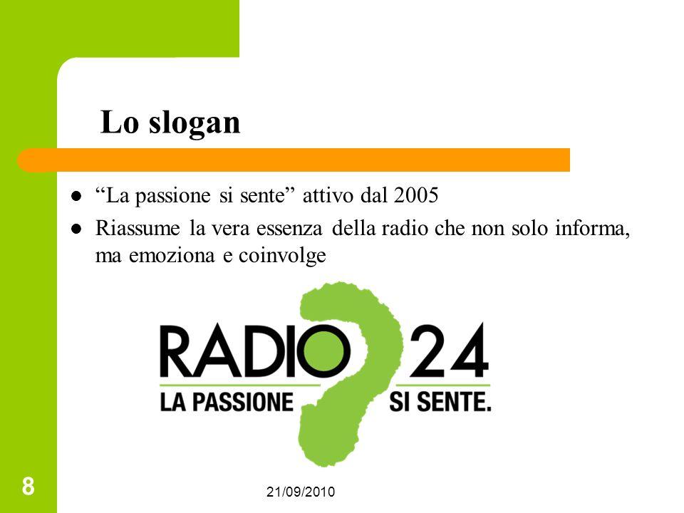 Lo slogan La passione si sente attivo dal 2005
