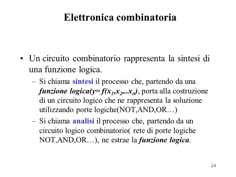 Elettronica combinatoria