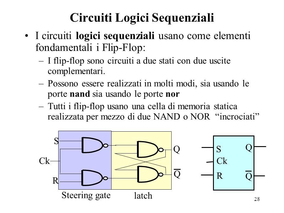 Circuiti Logici Sequenziali