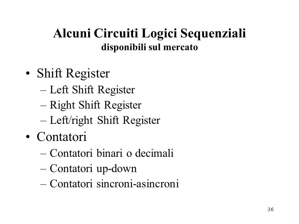 Alcuni Circuiti Logici Sequenziali disponibili sul mercato