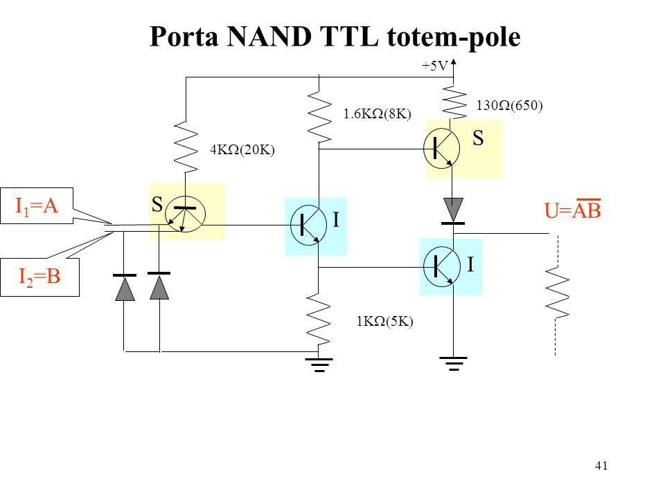 Porta NAND TTL totem-pole