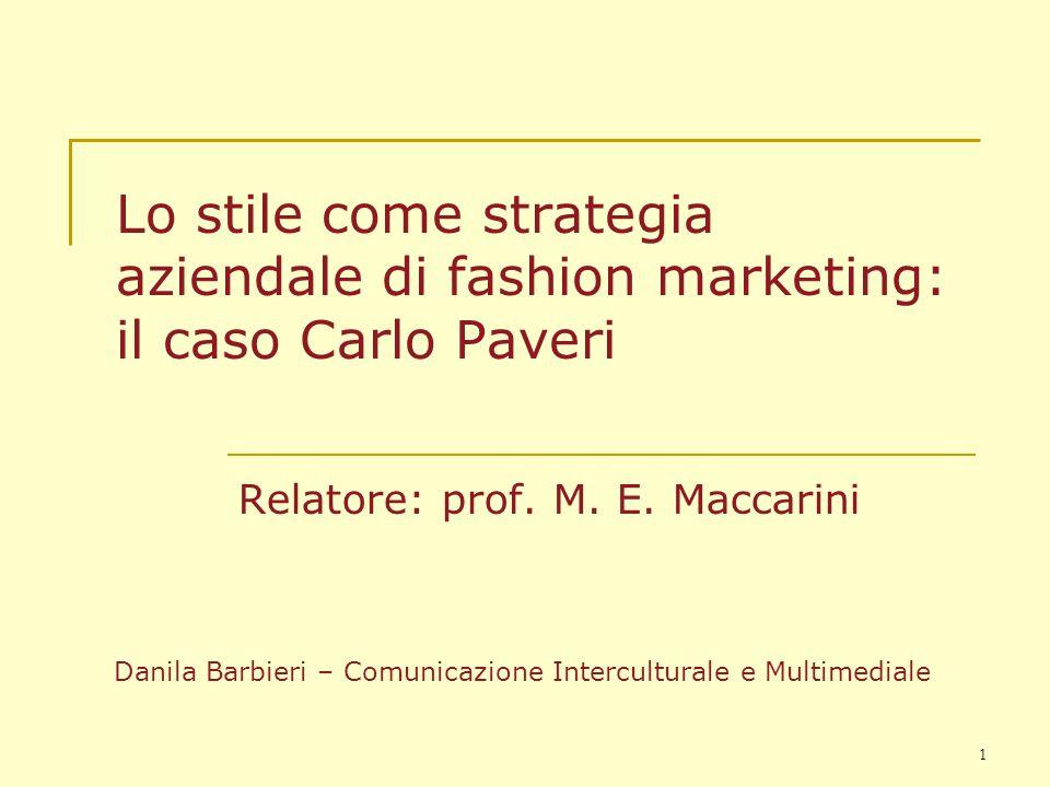 Relatore: prof. M. E. Maccarini