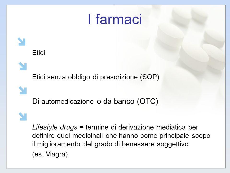 I farmaci Di automedicazione o da banco (OTC) Etici