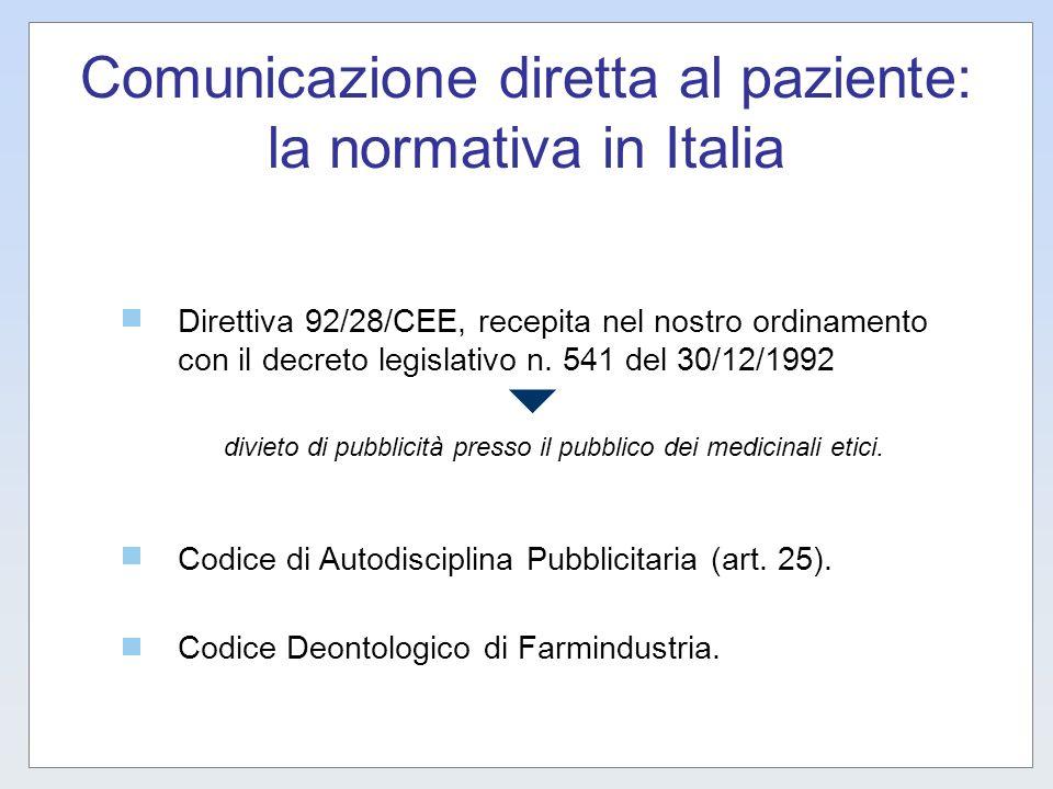 Comunicazione diretta al paziente: la normativa in Italia