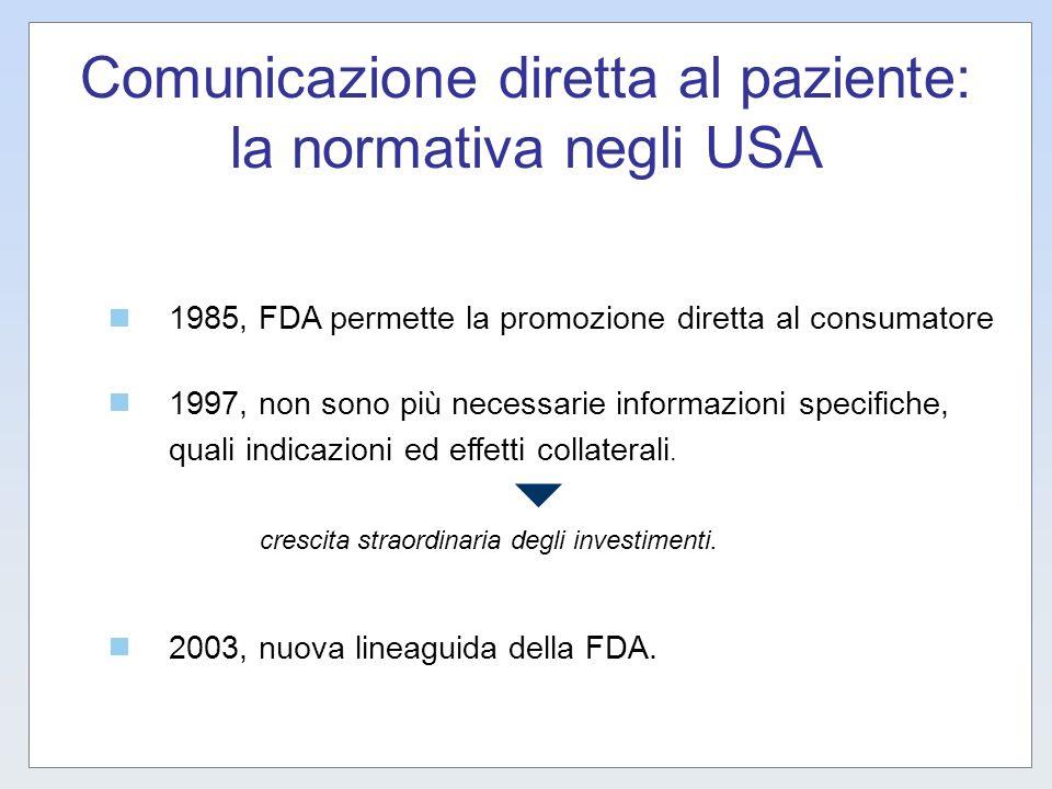 Comunicazione diretta al paziente: la normativa negli USA