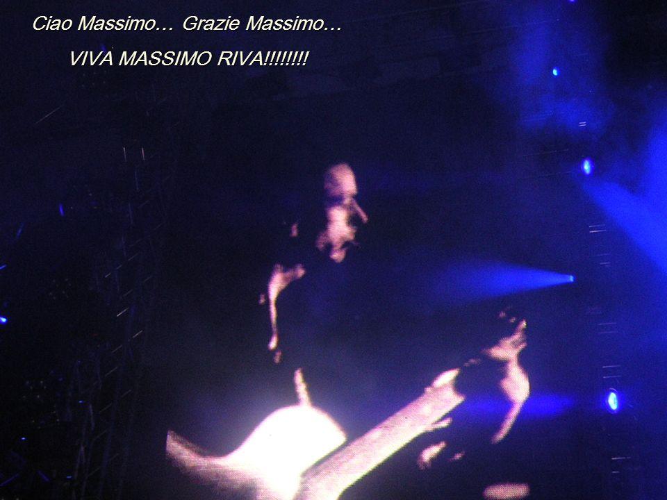 Ciao Massimo… Grazie Massimo…