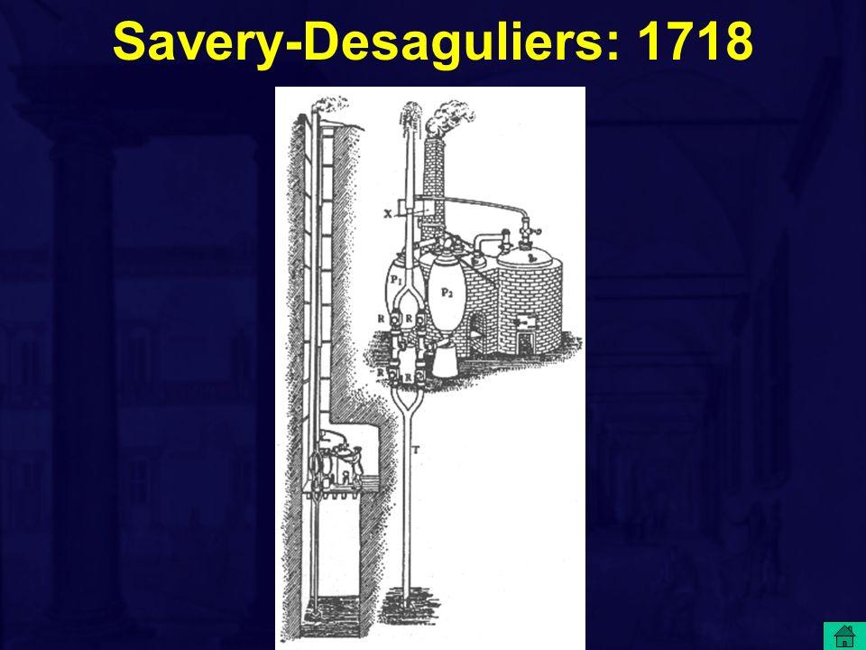 Savery-Desaguliers: 1718