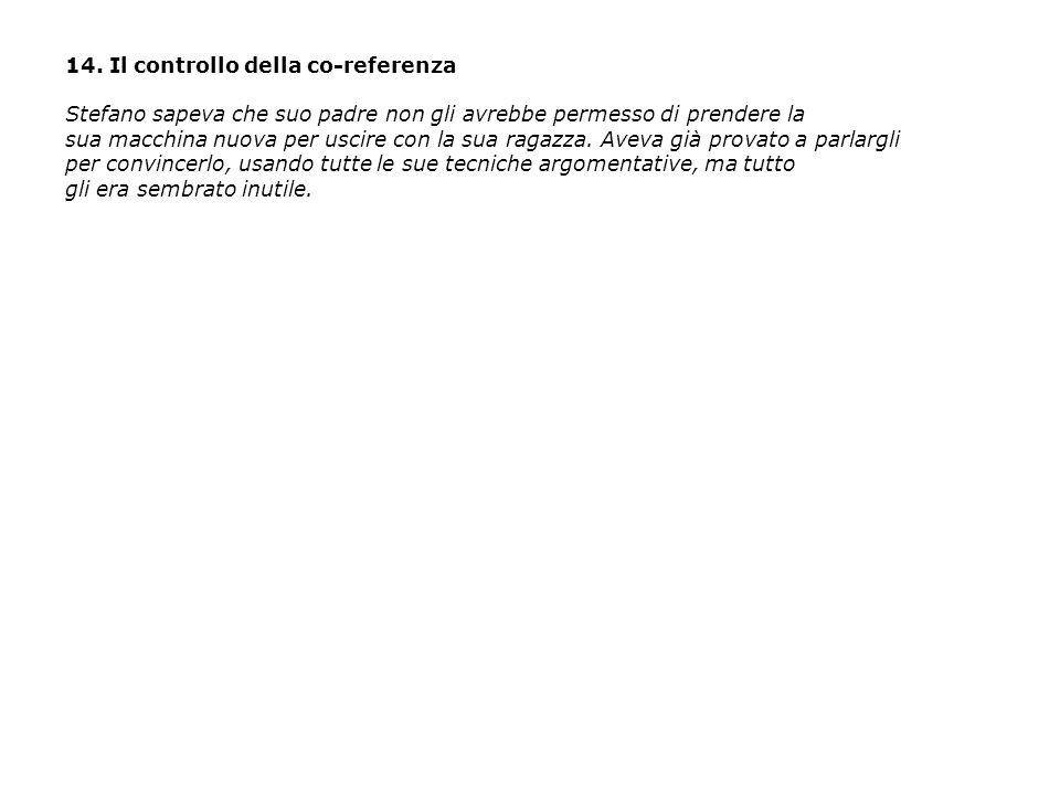 14. Il controllo della co-referenza