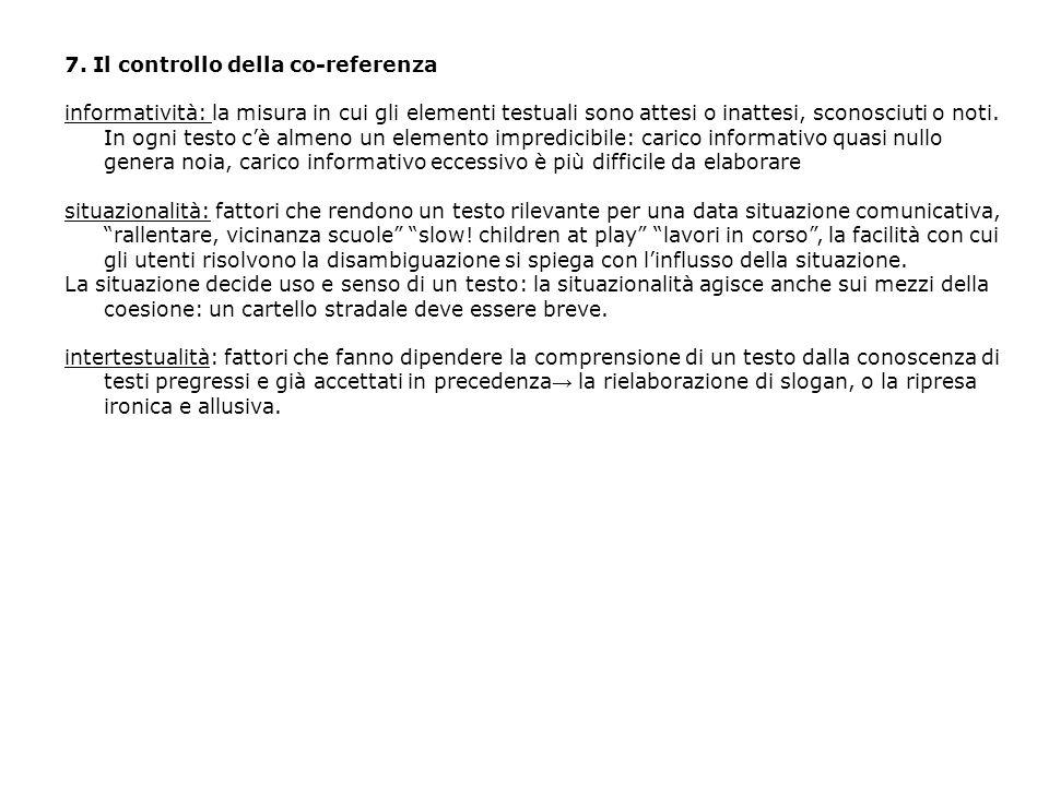 7. Il controllo della co-referenza