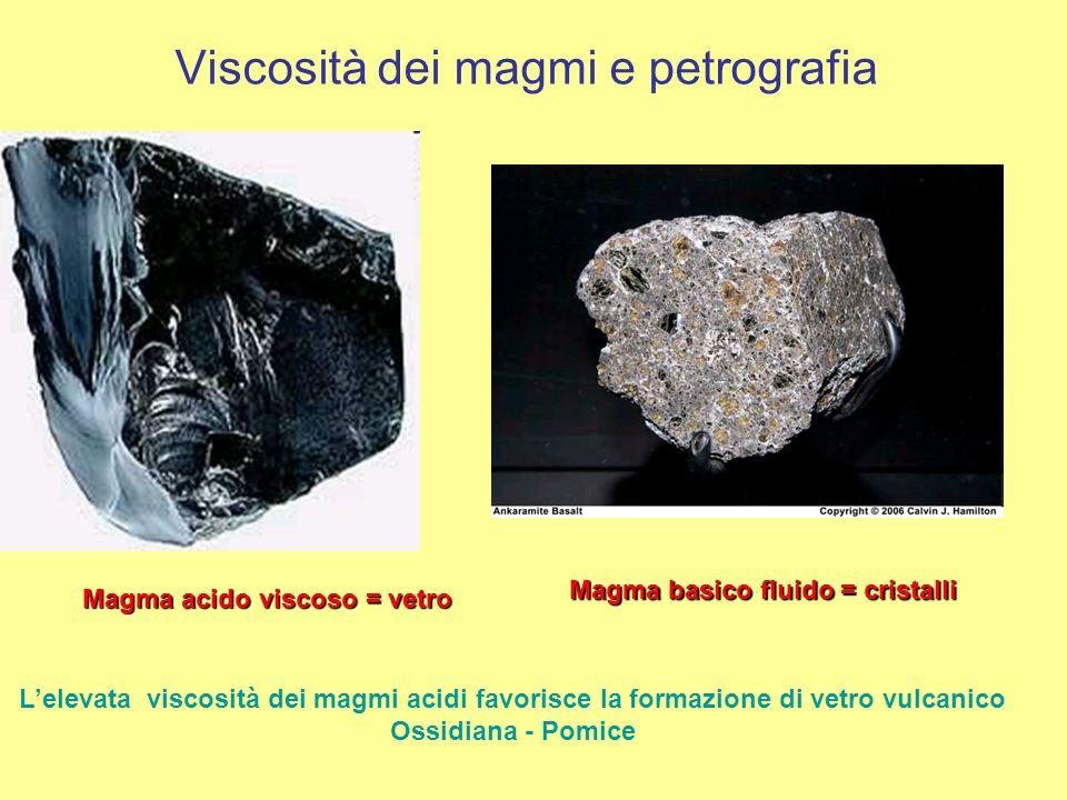 Viscosità dei magmi e petrografia