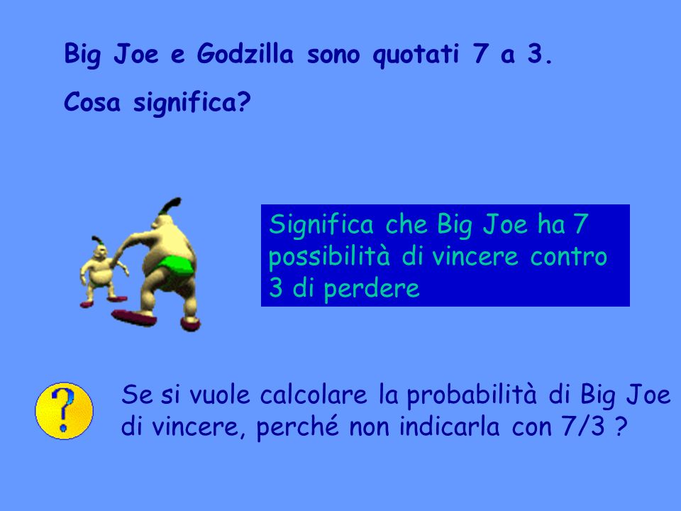 Big Joe e Godzilla sono quotati 7 a 3.