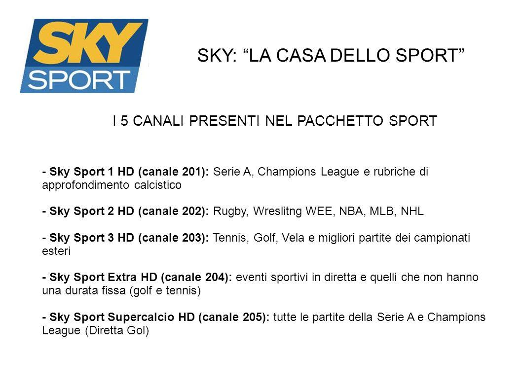 SKY: LA CASA DELLO SPORT