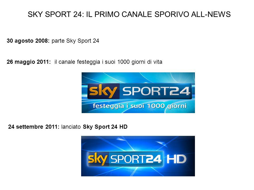 SKY SPORT 24: IL PRIMO CANALE SPORIVO ALL-NEWS