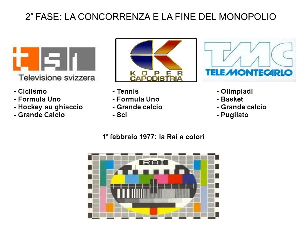 1° febbraio 1977: la Rai a colori