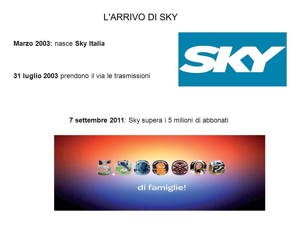 7 settembre 2011: Sky supera i 5 milioni di abbonati