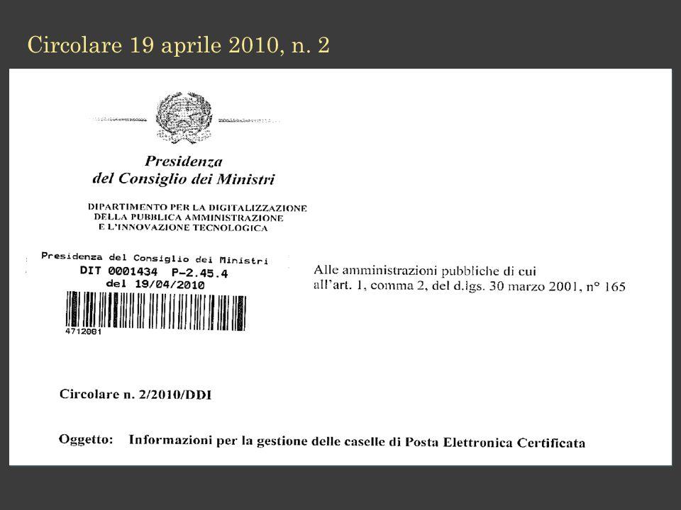 Circolare 19 aprile 2010, n. 2 12