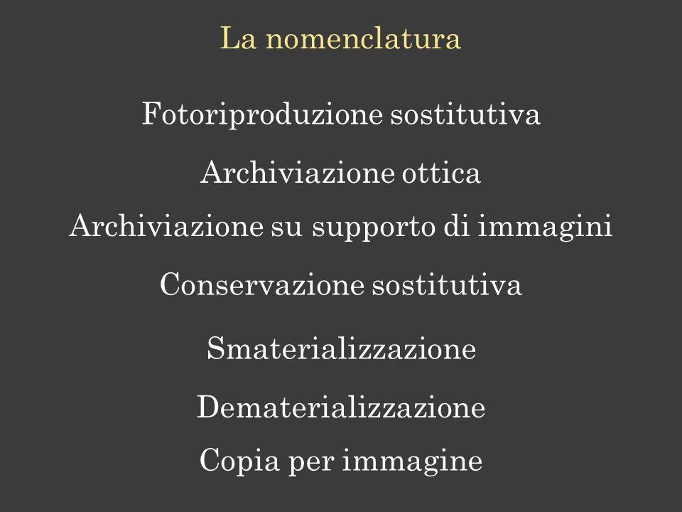 Fotoriproduzione sostitutiva