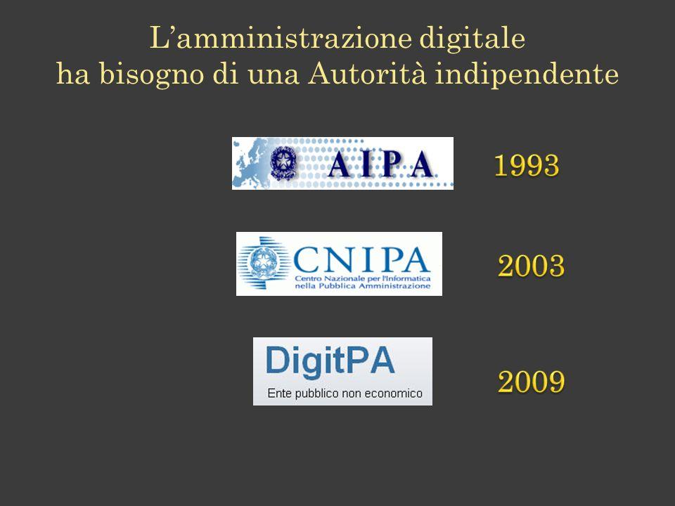 L'amministrazione digitale ha bisogno di una Autorità indipendente