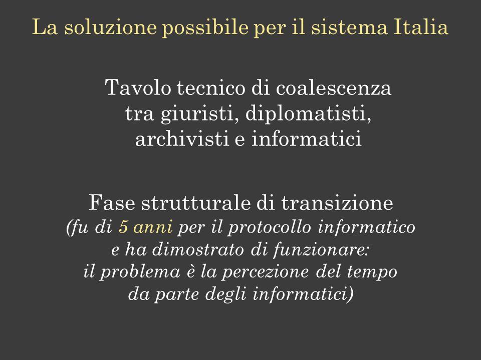 La soluzione possibile per il sistema Italia