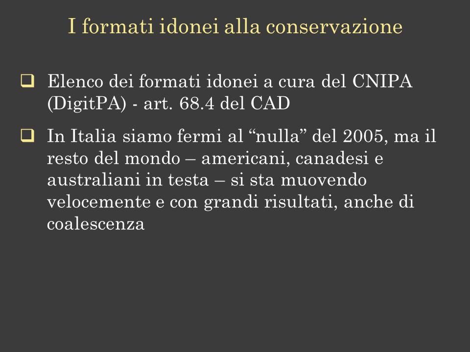 I formati idonei alla conservazione