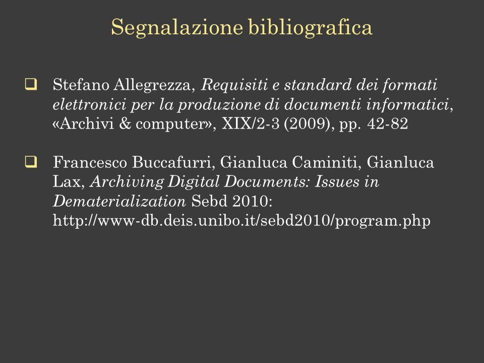 Segnalazione bibliografica
