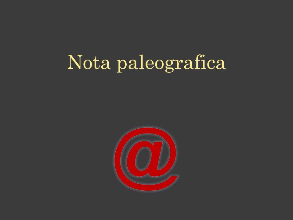 Nota paleografica @