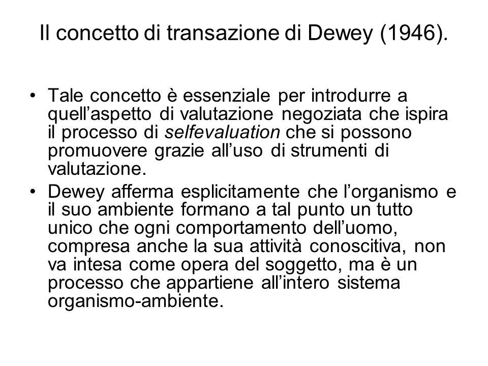 Il concetto di transazione di Dewey (1946).