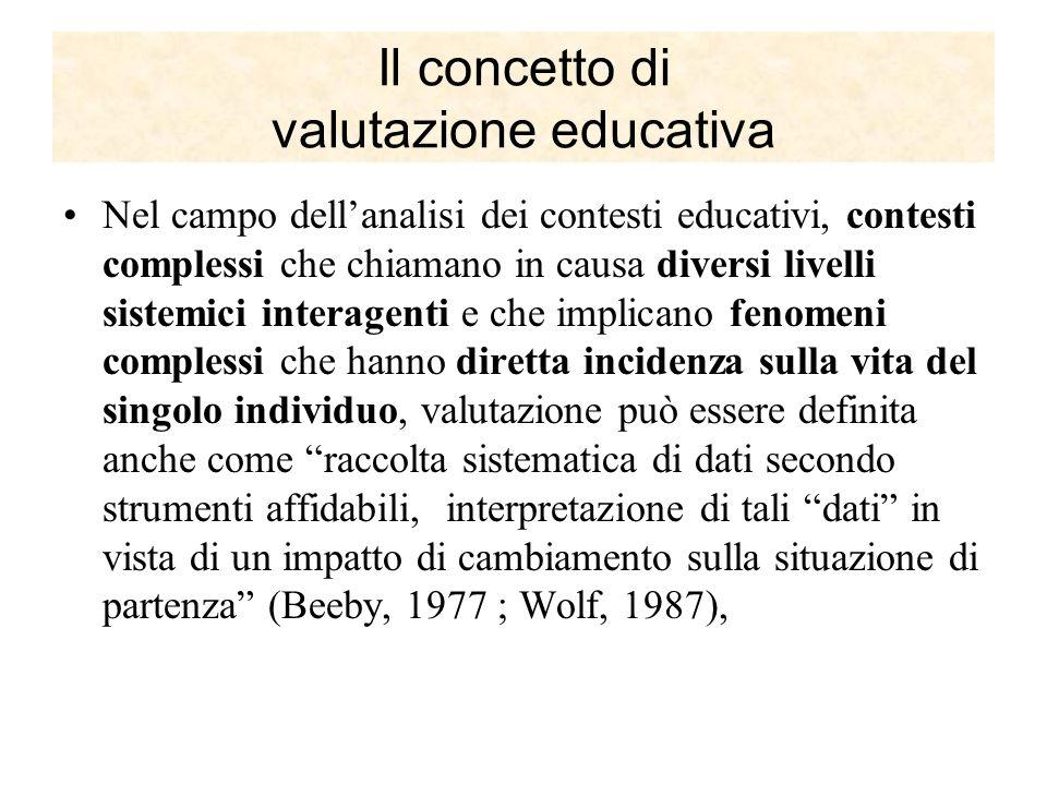 Il concetto di valutazione educativa