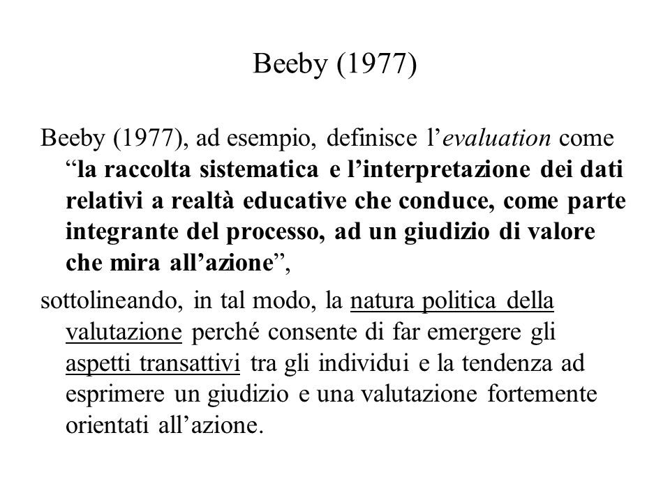 Beeby (1977)