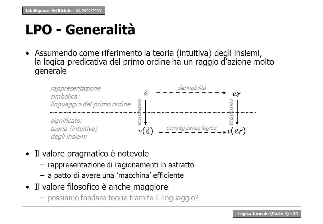 LPO - Generalità