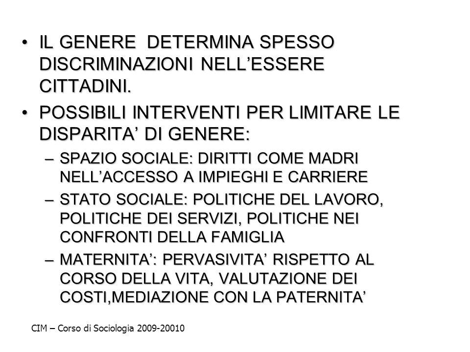 IL GENERE DETERMINA SPESSO DISCRIMINAZIONI NELL'ESSERE CITTADINI.
