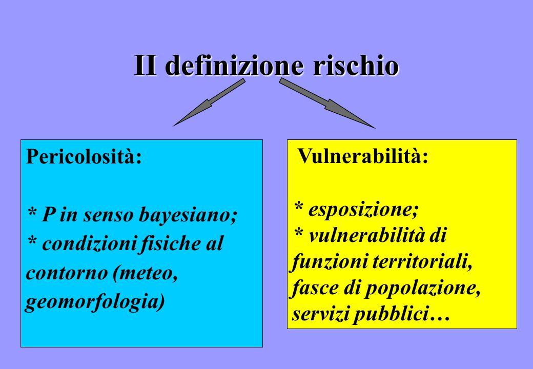 II definizione rischio