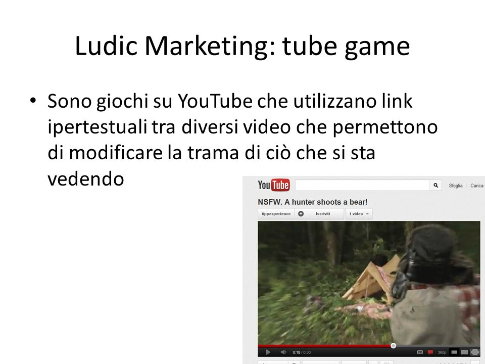 Ludic Marketing: tube game