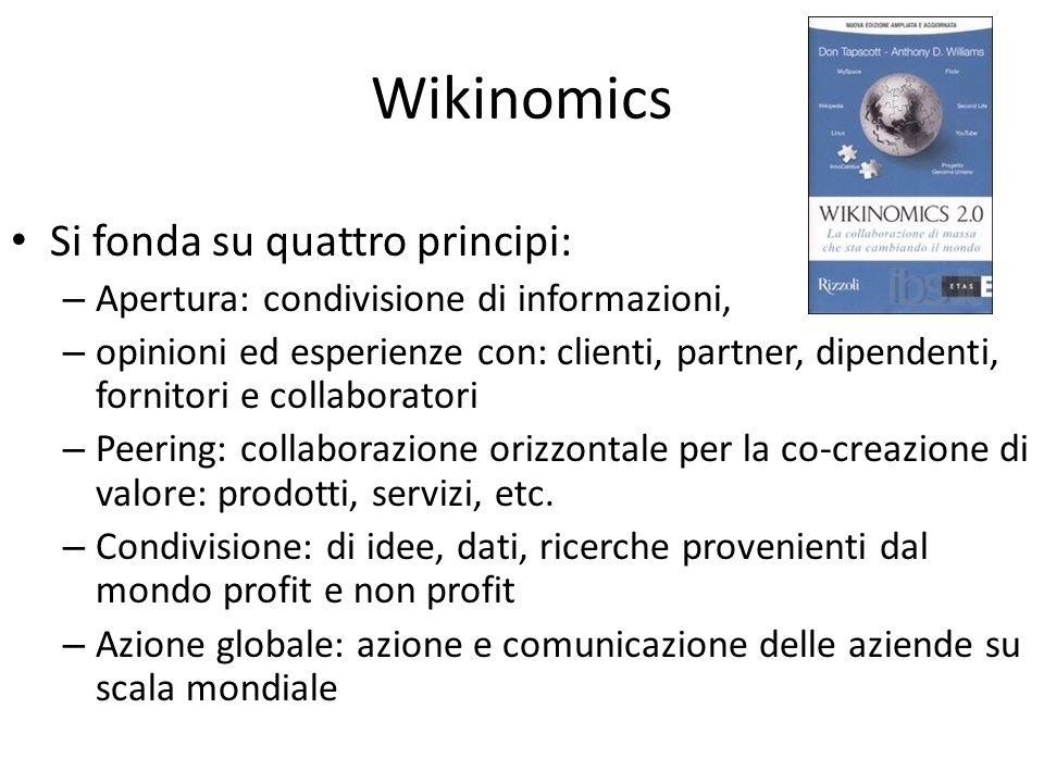 Wikinomics Si fonda su quattro principi: