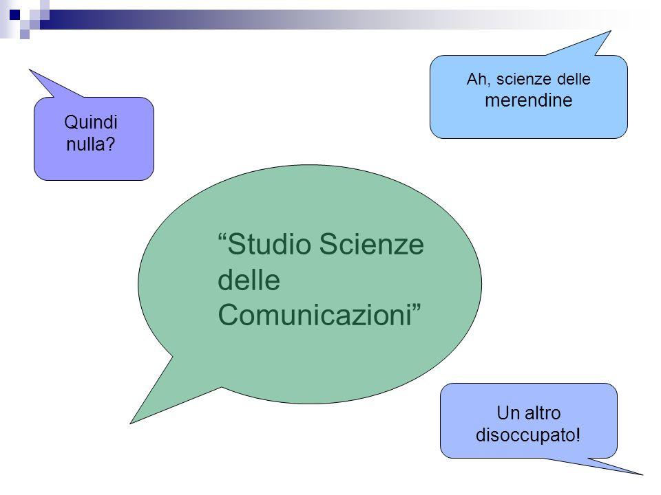 Studio Scienze delle Comunicazioni