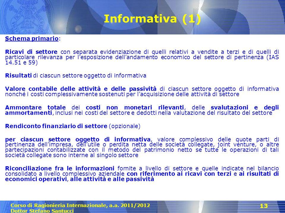 Informativa (1) Schema primario: