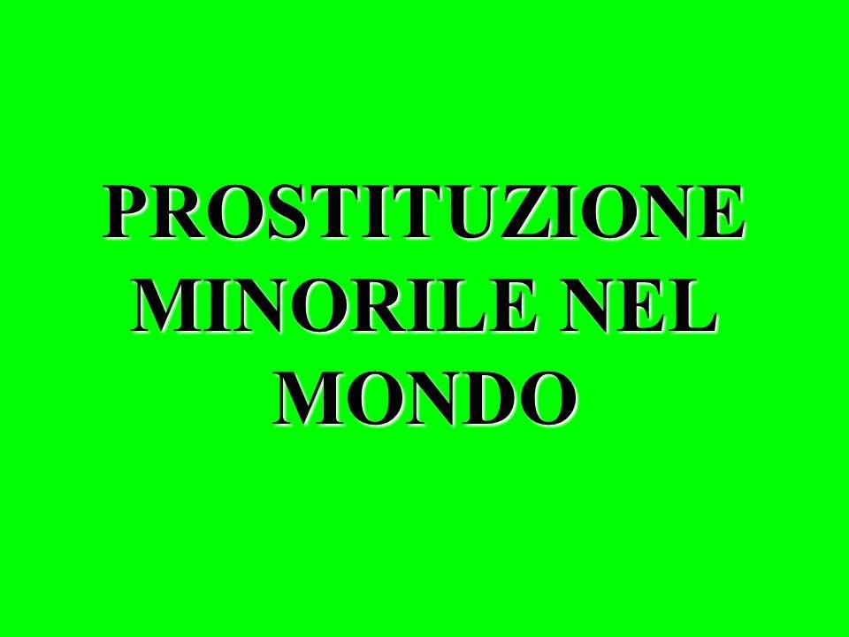PROSTITUZIONE MINORILE NEL MONDO