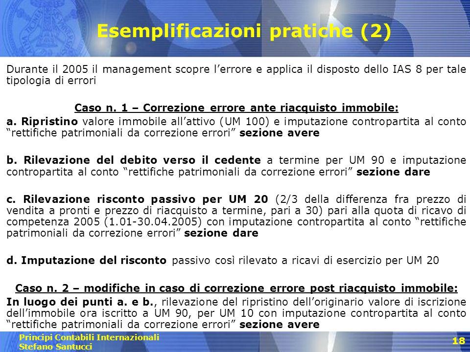 Esemplificazioni pratiche (2)