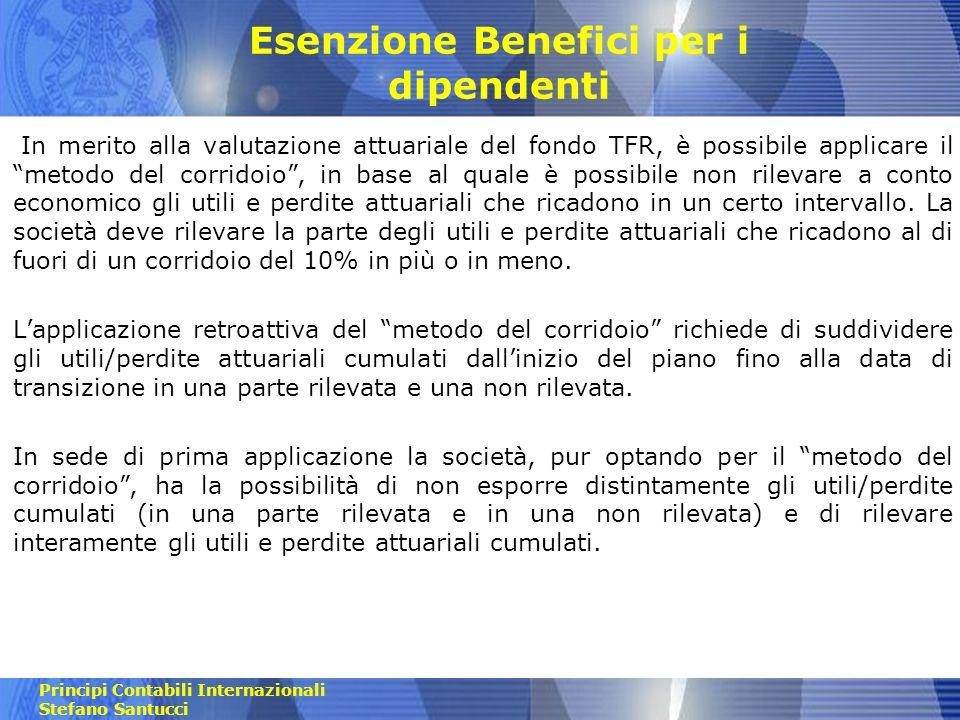 Esenzione Benefici per i dipendenti