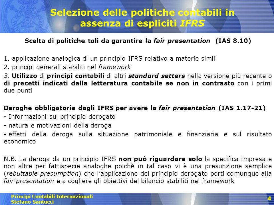 Selezione delle politiche contabili in assenza di espliciti IFRS