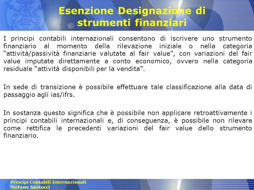 Esenzione Designazione di strumenti finanziari