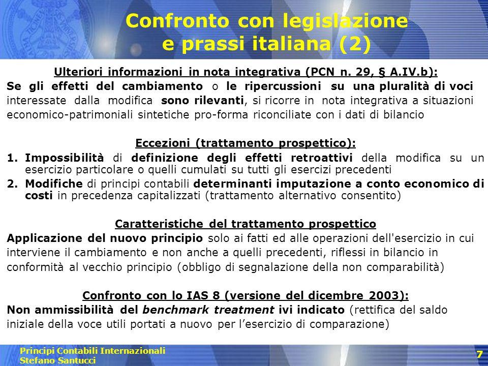 Confronto con legislazione e prassi italiana (2)