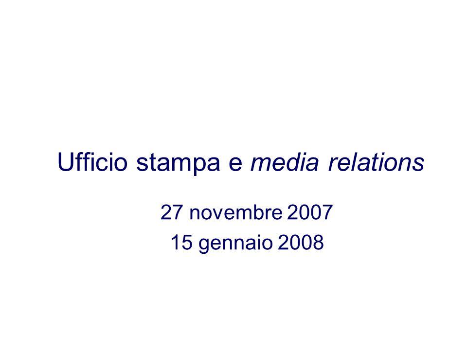 Ufficio stampa e media relations