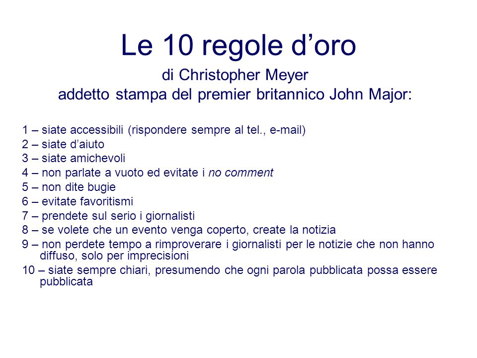 addetto stampa del premier britannico John Major: