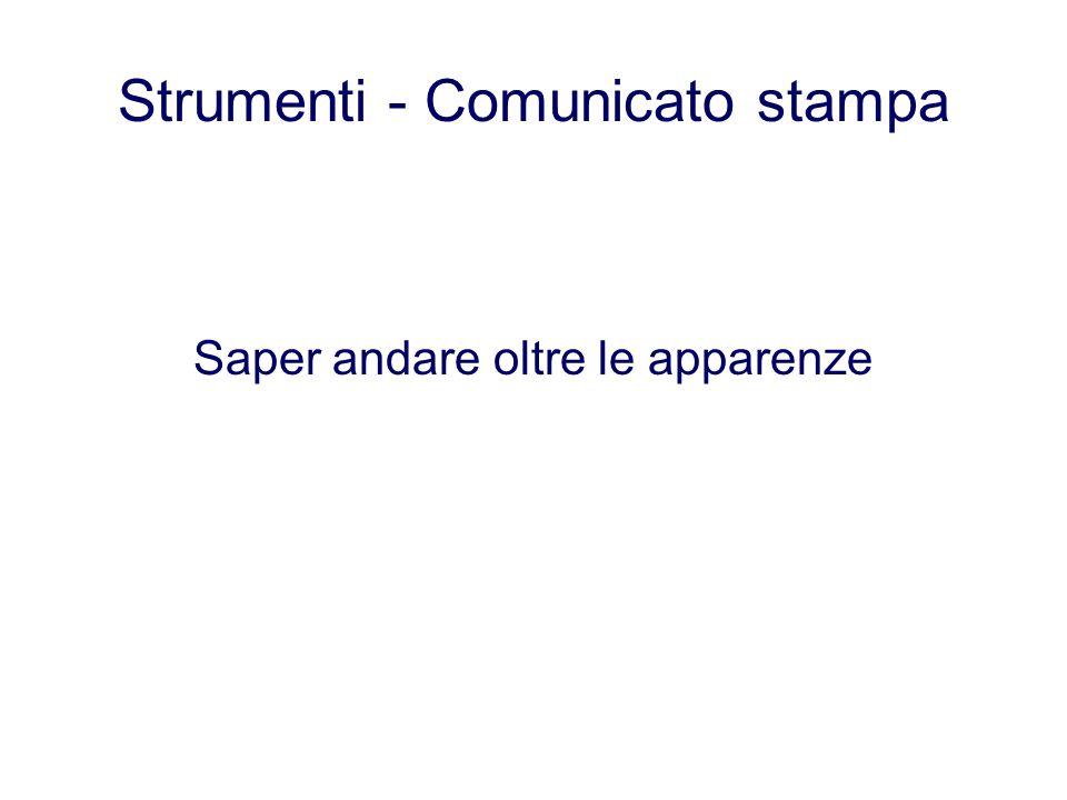 Strumenti - Comunicato stampa