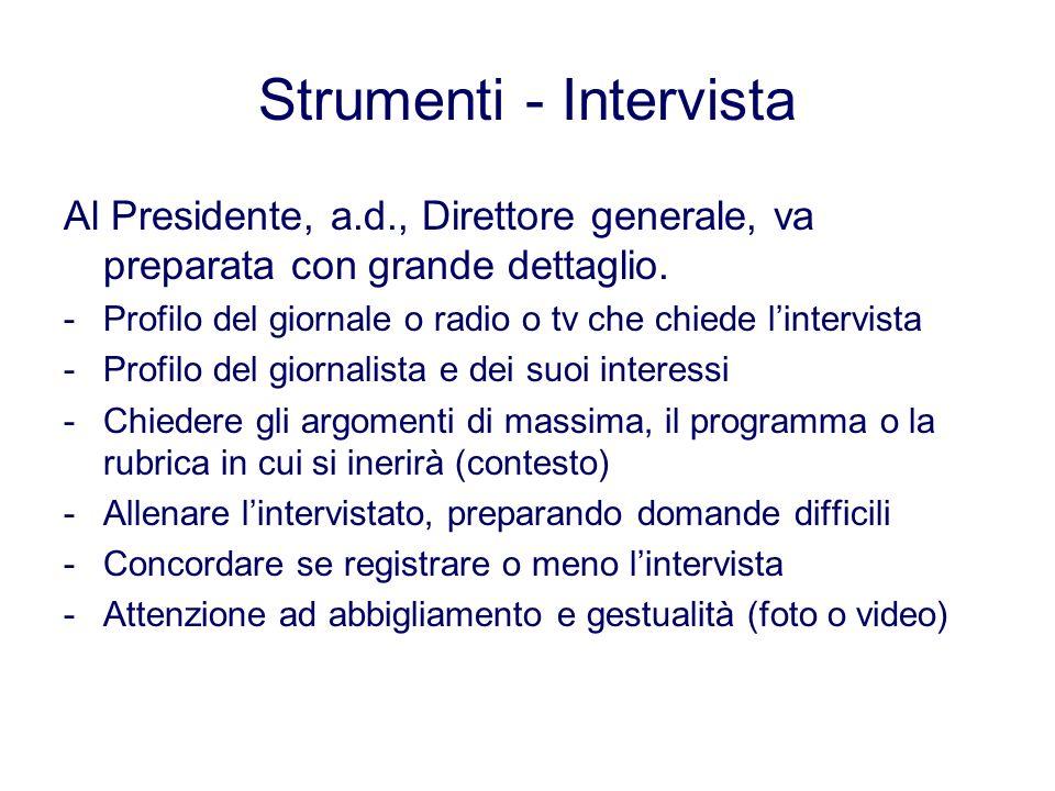 Strumenti - Intervista