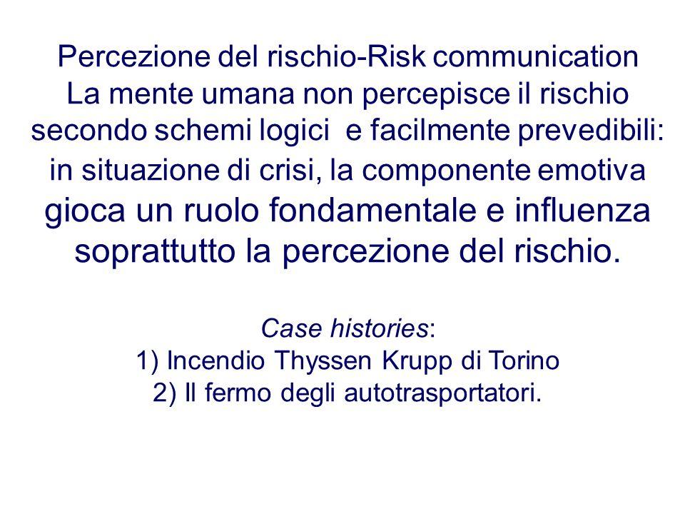 Percezione del rischio-Risk communication