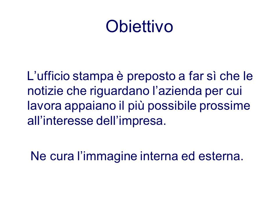 Obiettivo