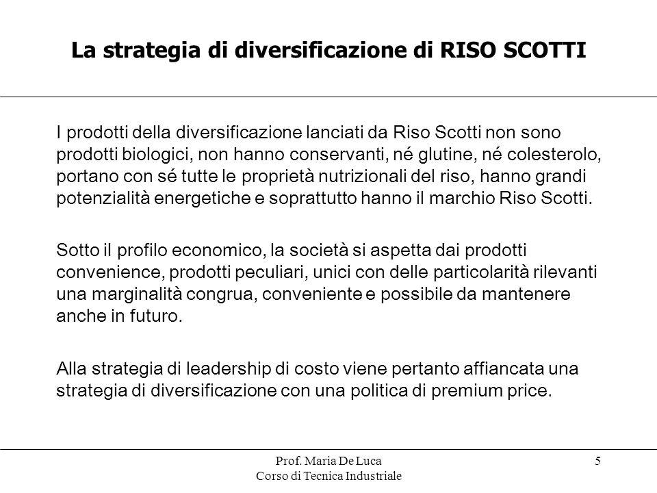La strategia di diversificazione di RISO SCOTTI