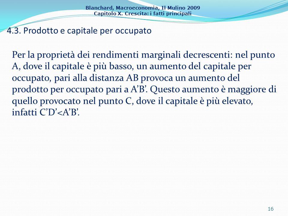 4.3. Prodotto e capitale per occupato